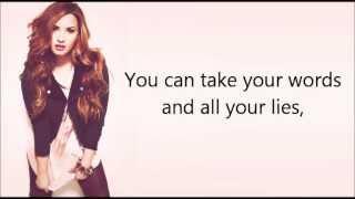 getlinkyoutube.com-Demi Lovato ft. Cher Lloyd - Really Don't Care (lyrics + pictures)