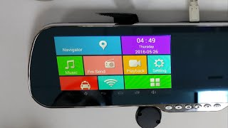 "getlinkyoutube.com-TOGUARD 5"" X5 Android Mirror DVR Dash cam backup camera Review & guide"
