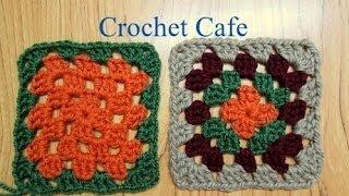كروشيه مربع الجرانى | كروشيه كافيه Crochet Cafe