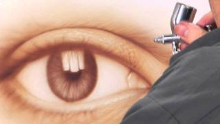 getlinkyoutube.com-AIRBRUSH SPECIAL: FREE! HOW TO AIRBRUSH AN EYE, STEP-BY-STEP with JAVIER SOTO