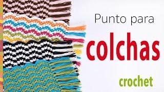 getlinkyoutube.com-Punto para colcha o cobija tejido a crochet: V en zigzag (se repite solo 1 hilera!)
