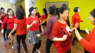 getlinkyoutube.com-That's The Jingle Bell Rock! (by Eun Mi Lim) - Line Dance (Partner / Circle)