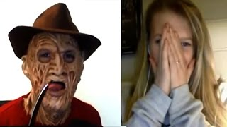 getlinkyoutube.com-Freddy Krueger on Omegle! He Just Wants to Make New Friends!