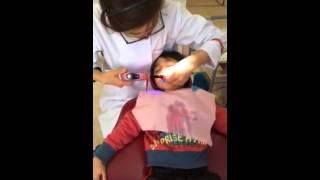 3才歯医者頑張りましたかっこいいね