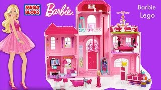 getlinkyoutube.com-Mega Bloks Barbie Luxury Mansion Barbie Life in the Dream house MegaBloks Compilation