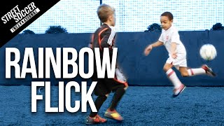 getlinkyoutube.com-Learn Neymar Skills - Rainbow flick - Little STRs Kids coached by STR skill School