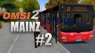 getlinkyoutube.com-OMSI 2: Mainz mit Linie 68 und dem MAN Lion's City G - Untwerwegs mit der DB