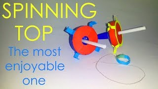 getlinkyoutube.com-How to make a great spinning top by simple materials - Vyouttar Origami-