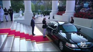 getlinkyoutube.com-Congo President Denis Sassou Nguesso arrives at the White House Diner