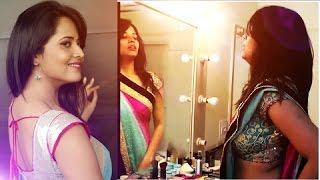 getlinkyoutube.com-Anchor Anasuya at  makeup room | Anchor Anasuya Exclusive Video