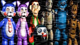 getlinkyoutube.com-Five Nights at Candy's ALL ANIMATRONICS / ALL JUMPSCARES [EXTRA]