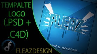 getlinkyoutube.com-FREE Template Logo (.PSD + .C4D) + Speed Art By FleaZDesigN