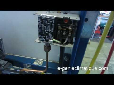 Froid65-Réglage du pressostat bp pump down du single pump down amélioré
