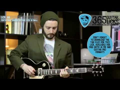 Lick 106/365 - Pentatonic Double Octave Lick in C#m | 365 Guitar Licks Projec