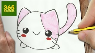 getlinkyoutube.com-COMO DIBUJAR GATO KAWAII PASO A PASO - Dibujos kawaii faciles - How to draw a CAT