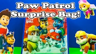 getlinkyoutube.com-PAW PATROL Nickelodeon Surprise Bag + Surprise Eggs Toys and Candy Video
