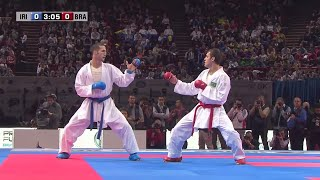 getlinkyoutube.com-Final Male Kumite -60Kg. Amir Mehdizadeh vs Douglas Brose. World Karate Championships 2012