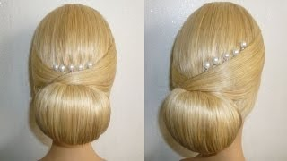getlinkyoutube.com-Easy&Quick Prom/Wedding Hairstyle. Evening Updo Hairstyles Tutorial.Penteados