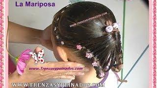 getlinkyoutube.com-Peinado para niñas. Curso #6  (LA MARIPOSA)