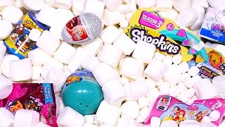 getlinkyoutube.com-Marshmallow Madness Surprise Eggs Aquarium! Inside Out Ugglys Disney Princess Toy Eggs DCTC