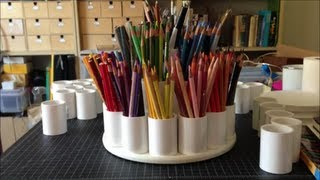 How To Make a Colored Pencil Storage Carousel (Tutorial)