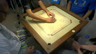 getlinkyoutube.com-Carrom Doubles Final in French Nationals 2016 (Villepinte)