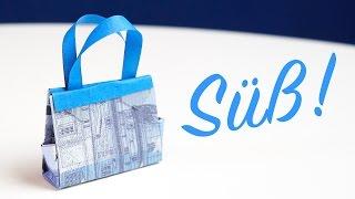 getlinkyoutube.com-Bargeld Geschenkidee, Handtasche falten zum Geburtstags-Shopping