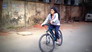 Shahtaj Monira Hashem is learning cycle ride for the drama - Poetry Of Souls ...