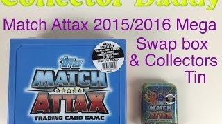 getlinkyoutube.com-Match Attax 2015/2016 mega swap box and collectors tin opened Topps