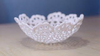 getlinkyoutube.com-DIY Lace Bowl