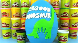 getlinkyoutube.com-The Good Dinosaur Movie Giant Playdoh Surprise Egg w Disney Toys