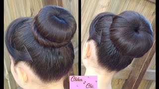 Hair style Classic Donut Bun (2 Options!) | Quick and Easy Hairstyles | Dance hairstyle