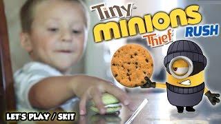 getlinkyoutube.com-My MINION is a TINY THIEF!  (FGTEEV GAMEPLAY / SKIT w/ Despicable Me Minions Rush)