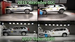 getlinkyoutube.com-2016 Volvo XC90 VS Mercedes Benz GLC - Crash Test