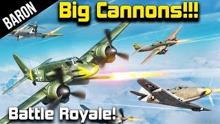 getlinkyoutube.com-War Thunder - Big Cannon Battle Royale!