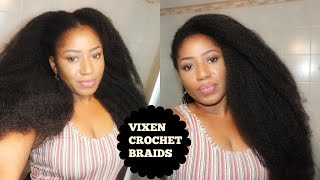 getlinkyoutube.com-DIY VIXEN CROCHETS BRAID ON SHORT 4C HAIR ,WITH MARLEY HAIR