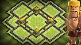 getlinkyoutube.com-Clash of Clans - BEST Townhall 10 (TH10) Farming BASE!