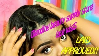 getlinkyoutube.com-How to make a Synthetic Lace wig look Natural