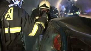 Taktické cvičení Dopravní nehoda v tunelu Komořany