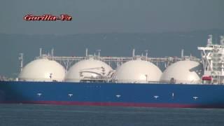 getlinkyoutube.com-LNG Tanker TAITTAR NO1 LNGタンカー 台達一號 堺泉北港 出港