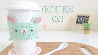 getlinkyoutube.com-DIY Crochet Mint Bear Cozy - Travel Mug