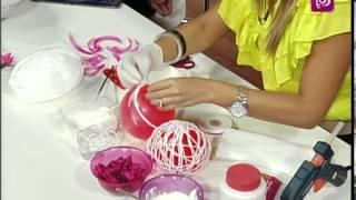 فاي سابا تزين الكرات باستخدام البالونات والصوف