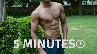 5 Minutes Home Chest Workout in Hindi - Calisthenics without Weights