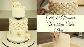 getlinkyoutube.com-Glitz & Glamour Wedding Cake - Part 2(Decorations) - CAKE STYLE
