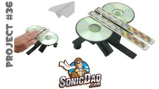 How to Make a Paper Airplane Launcher that Really Rips: SonicDad Project #36