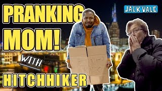 PICKING UP A HITCHHIKER WITH MOM!! - Funny Hitchhiker Video - Family Comedy (Ft. Terrence Williams)
