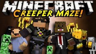 getlinkyoutube.com-Minecraft Mini-Game : INFINITE CREEPER MAZE!