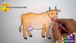 getlinkyoutube.com-Vẽ con bò/How to Draw Cows
