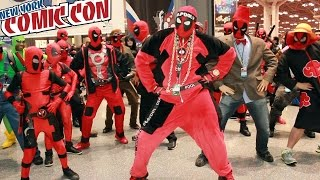 DEADPOOL DANCE PARTY at New York Comic Con - bonus video