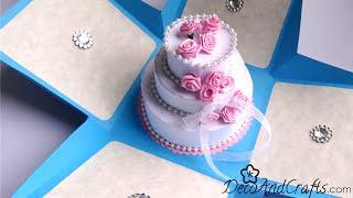 getlinkyoutube.com-Tarjeta de cumpleaños : Tarjeta Explosiva con Pastel - [ Happy Birthday Card ]